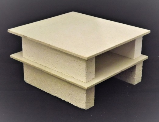 2 Ceramic Shelves 4 Stands RC 310P