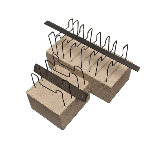 Set Of Two Muffle Stands For Different Size Knifes Blades