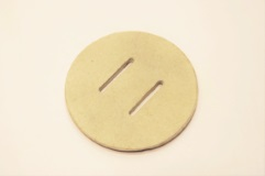 spare ceramic disk with slots for kmk 1250p knife making kilns
