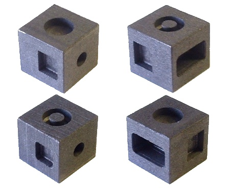 6 in 1 cubic graphite mould for 6 different ingots