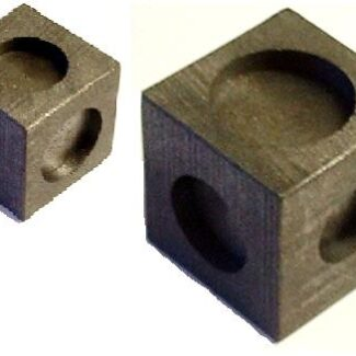 6 in 1 cubic graphite mould for 6 x coin type ingots
